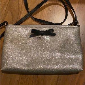 Kate Spade silver glitter crossbody bag purse